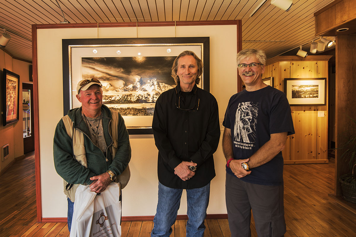 David Thompson, David Brookover, and myself at the Brookover Gallery in Jackson Wyoming