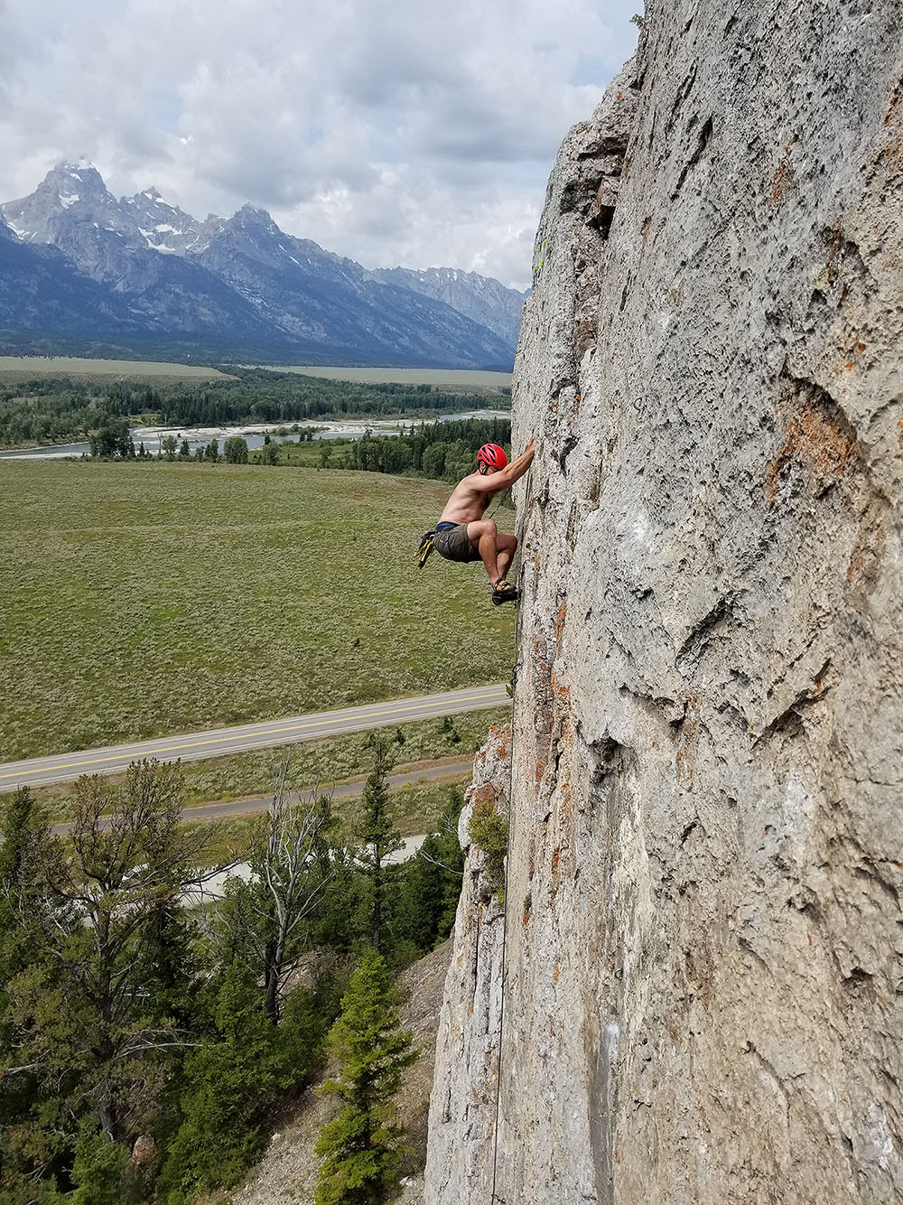 Rock climbing on Blacktail Butte in Wyoming