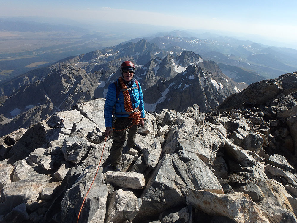 Chris high on the Grand Teton in Wyoming